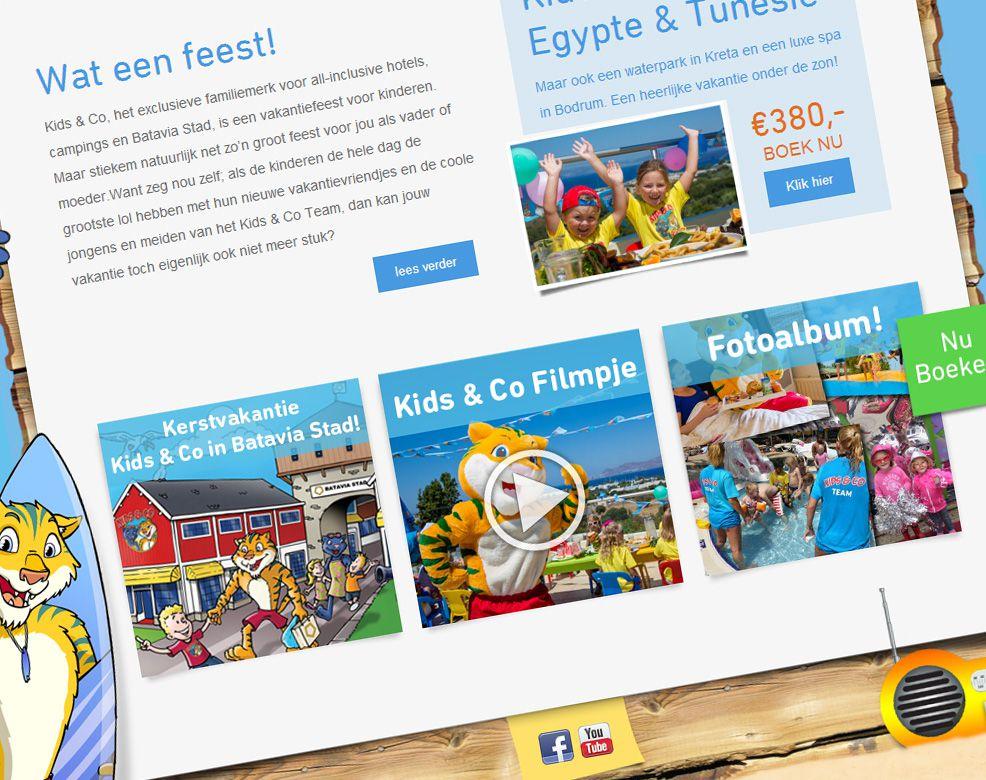 Kids & Co website screendump