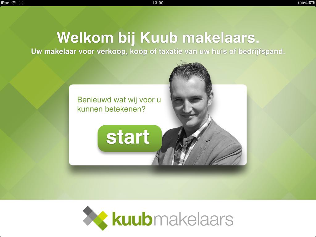 Startscherm iPad App