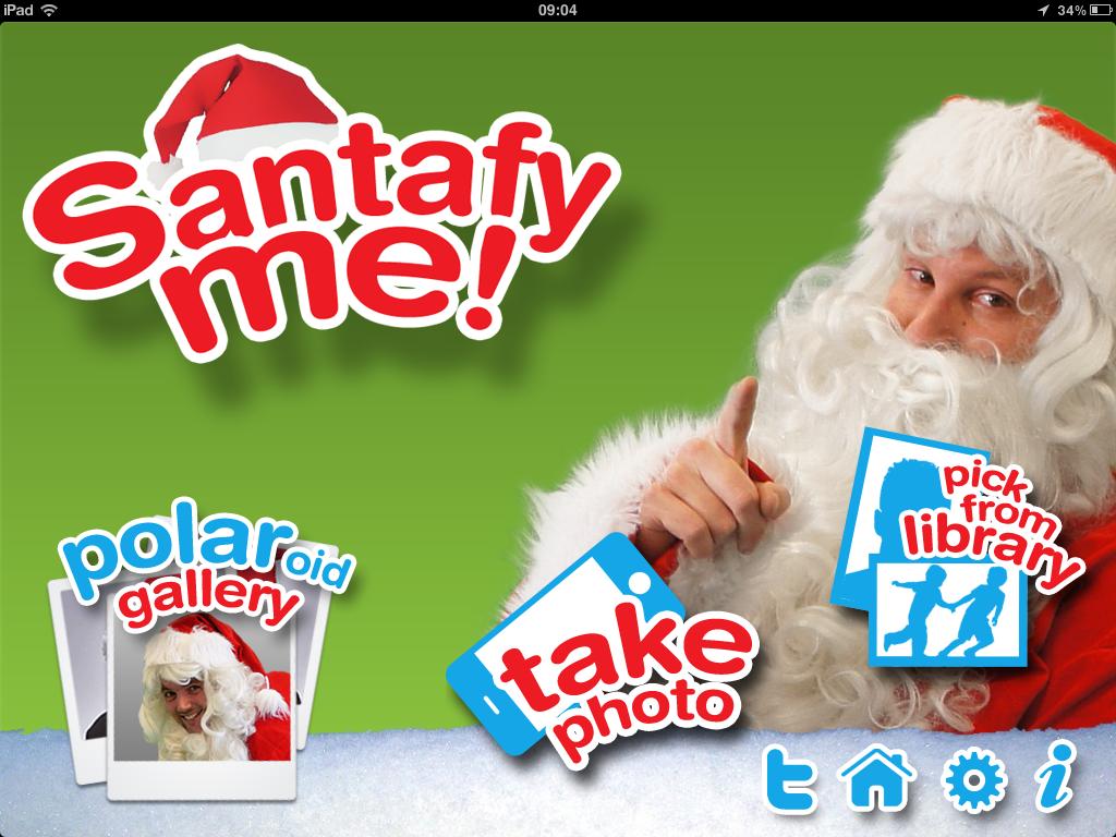 Startscherm iPad app Santafy Me! - Look like Santa Claus