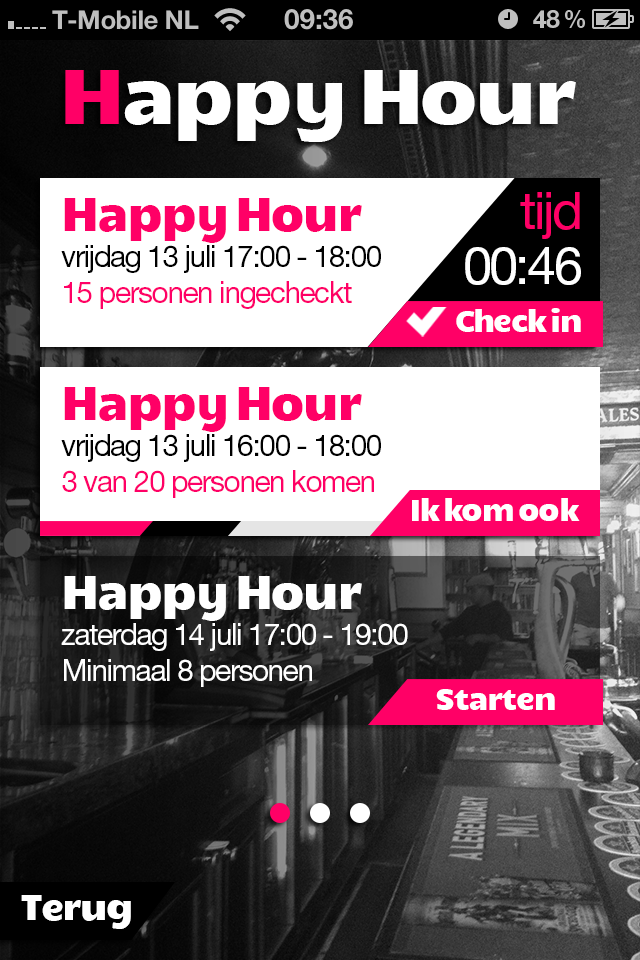 Happy Hour in de BarBoozter Speyk App