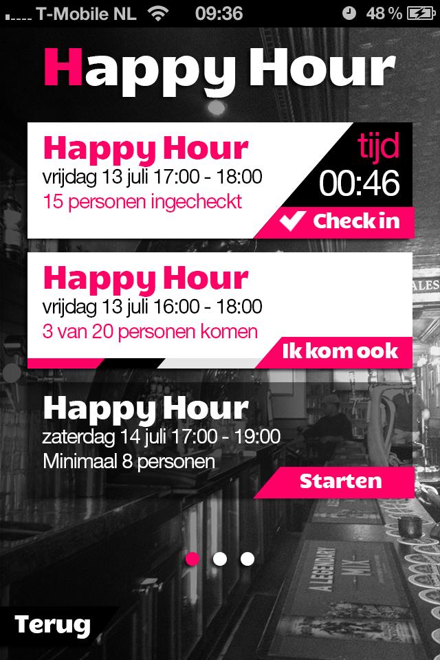 Happy Hour in de BarBoozter Speyk App