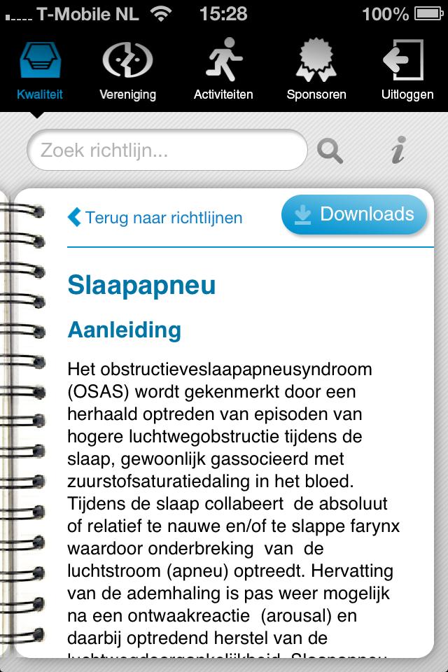 Als er downloads zijn opgenomen kun je die openen in iBooks of elk ander programma dat de bestandssoort kan openen