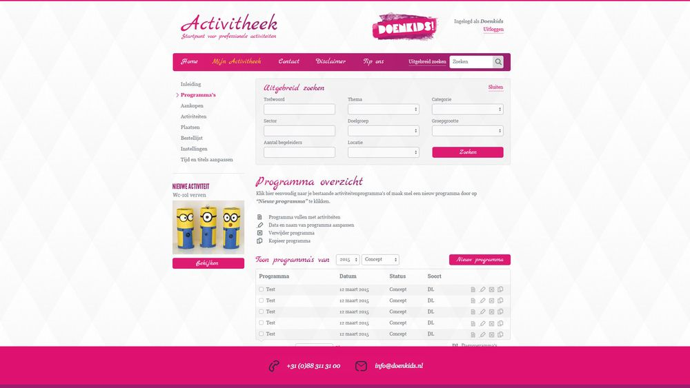 Restyle DoenKids 2015 - screen 3