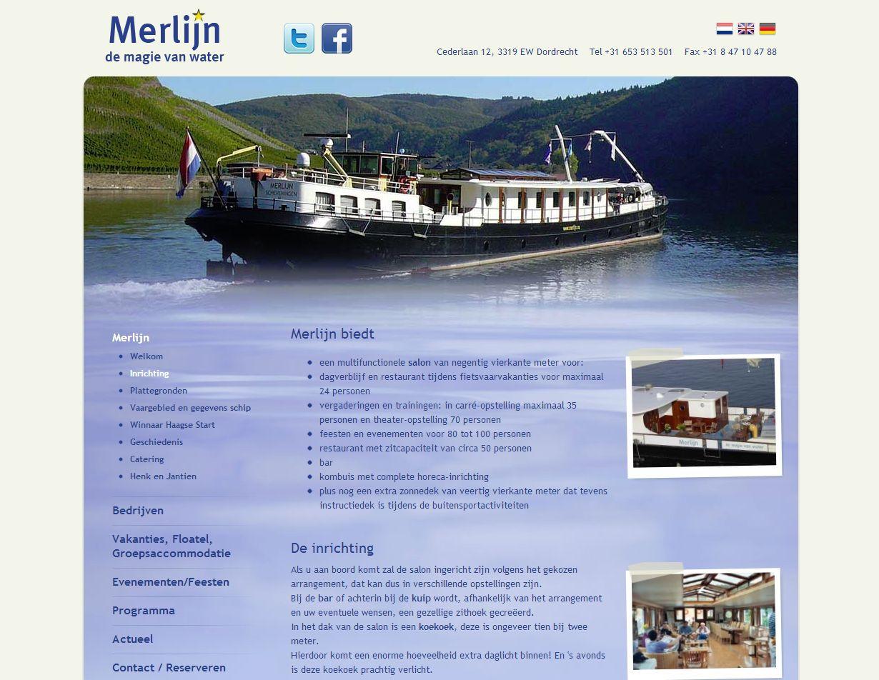 Voorbeeld nieuwe Merlijn website