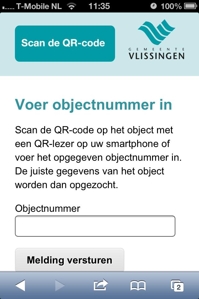 Mobiele website bezoeken zonder het scannen van een QR-code
