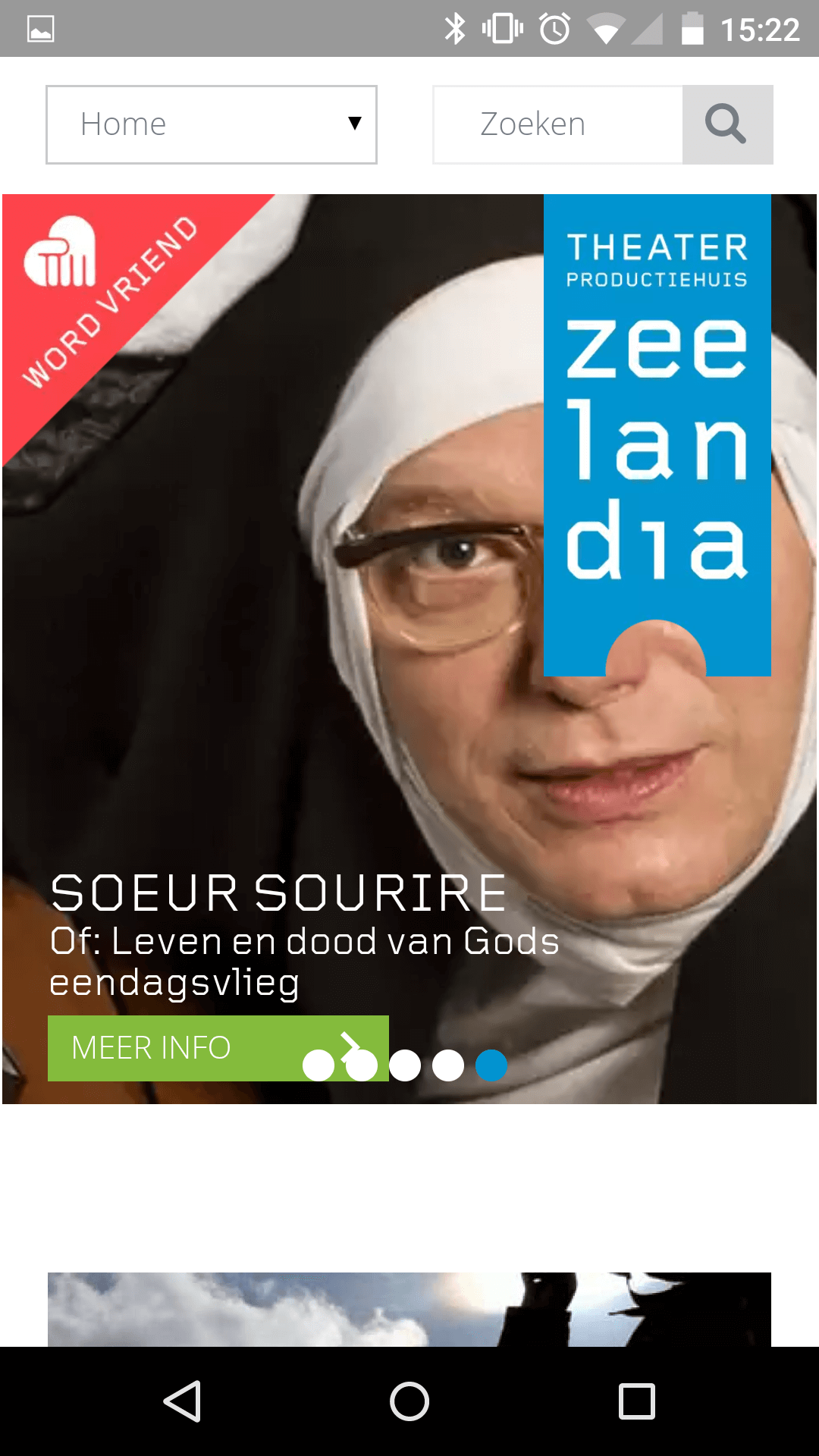 smartphone homepage