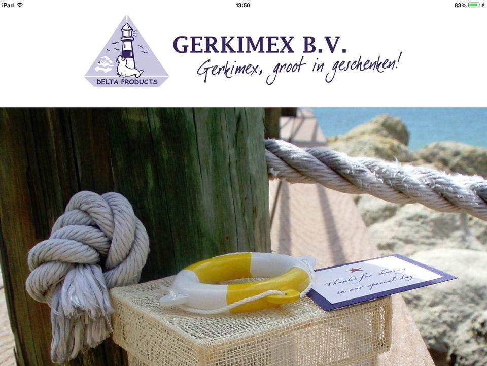 Startscherm Gerkimex App