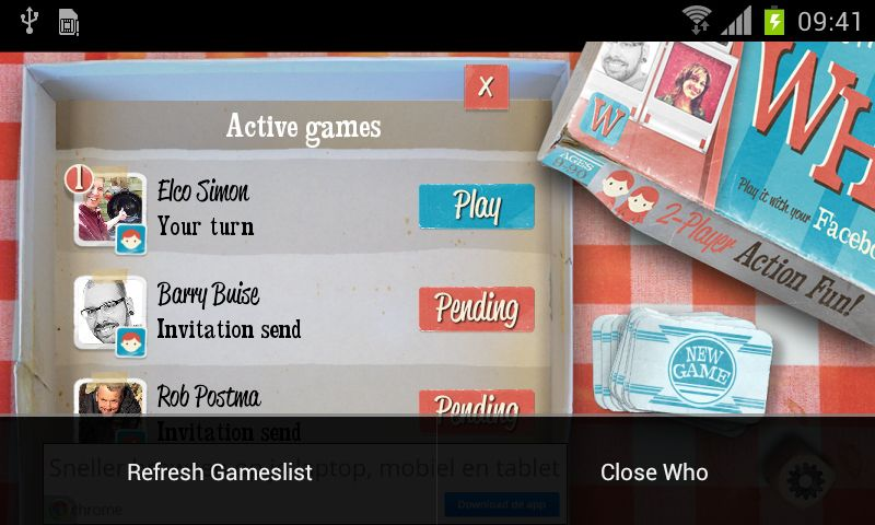 Who? the Game is er voor Android en iOS
