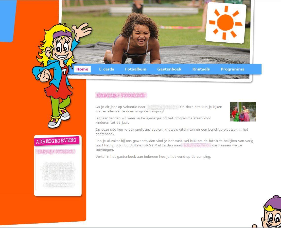 Het startscherm van de website Recreatieprogramma.nl