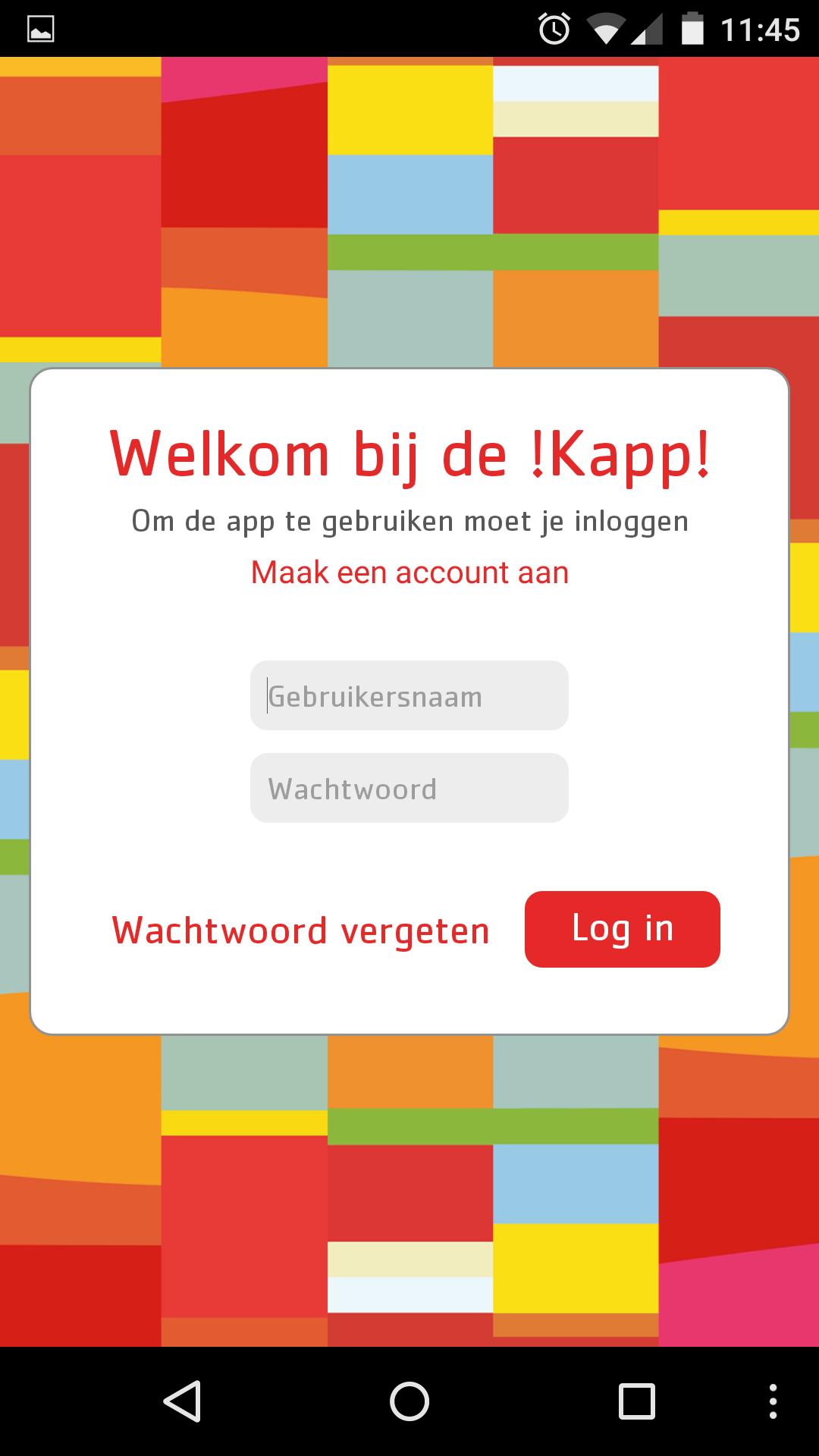 Screendump !Kapp - startscherm