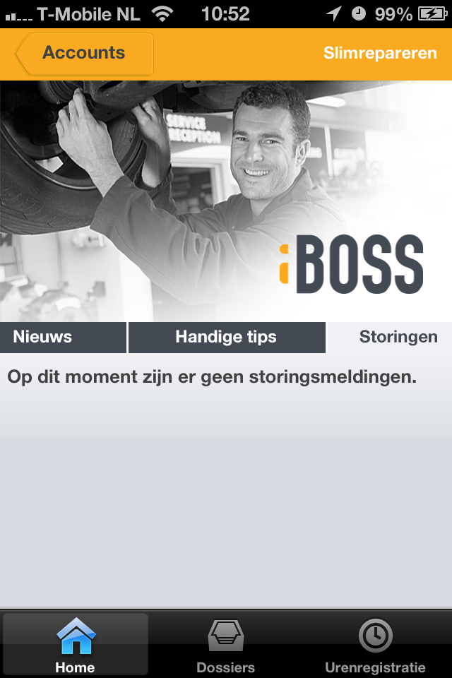 Direct storingsmeldingen getoond in de iBOSS App van PI Systems