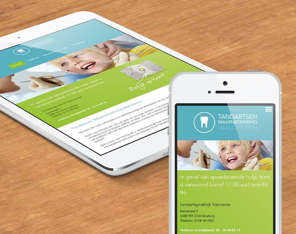 Responsive website met uitgebreide backoffice voor tandartsen waarneemkring walcheren