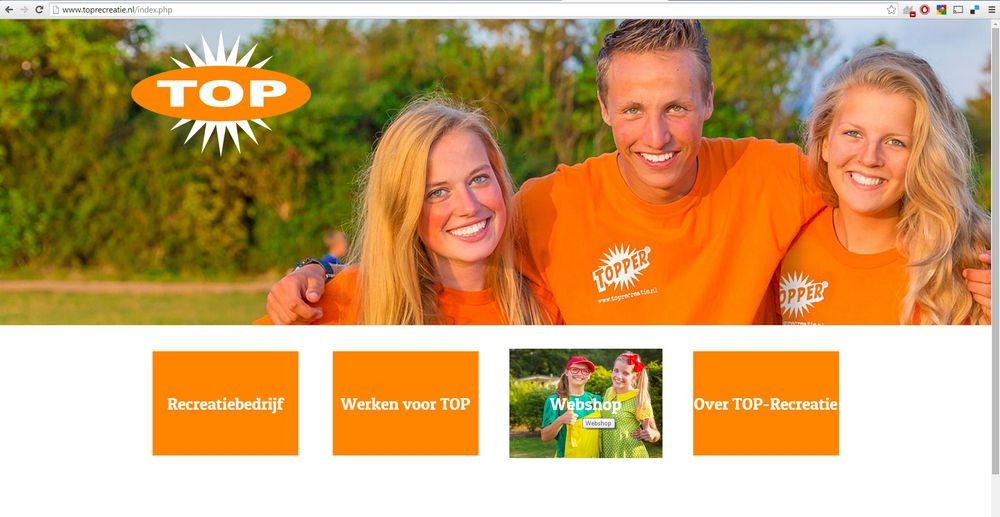 TOP-Recreatie - Webshop