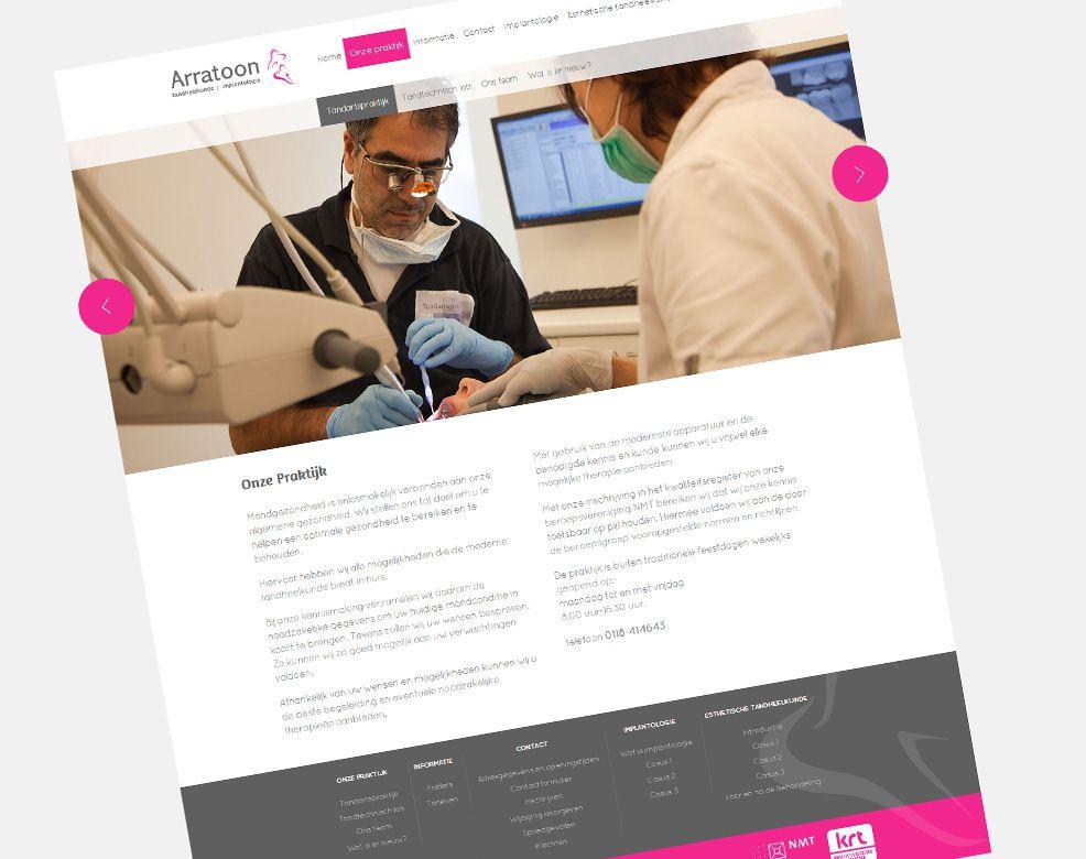 Website Tandartspraktijk Arratoon