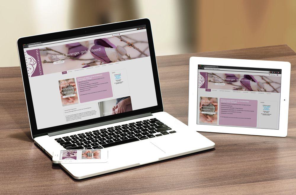 Responsive website Verloskundigen Vlissingen