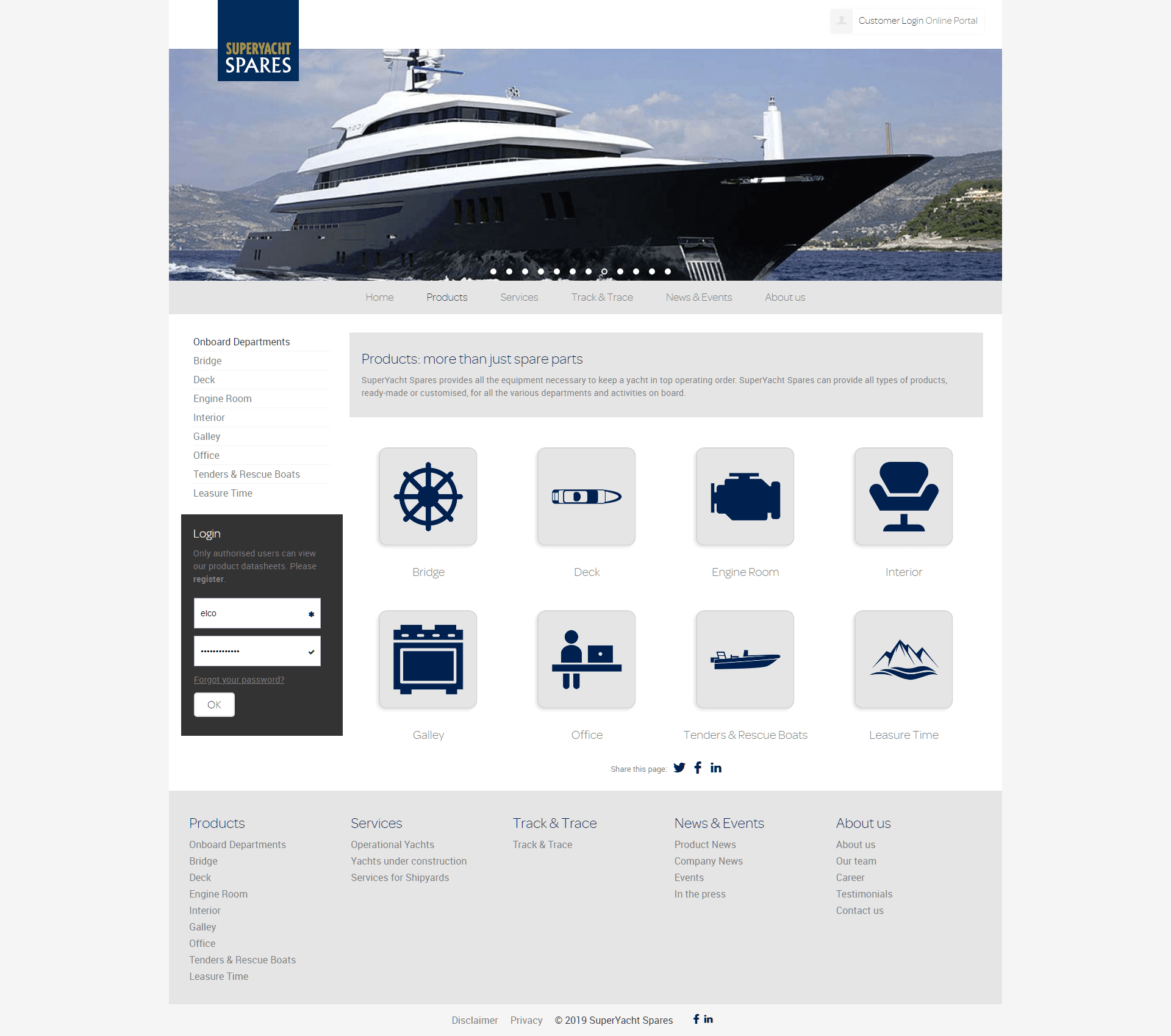 Superyacht Spares Product Overview