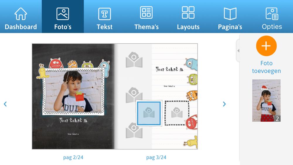 Gebruiksvriendelijke editor met vormgegeven pagina's