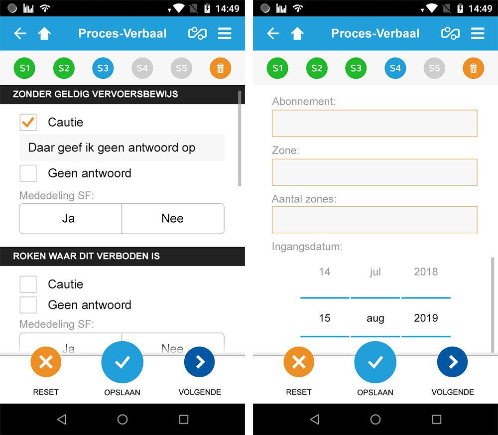 voorbeeldpagina GVB app