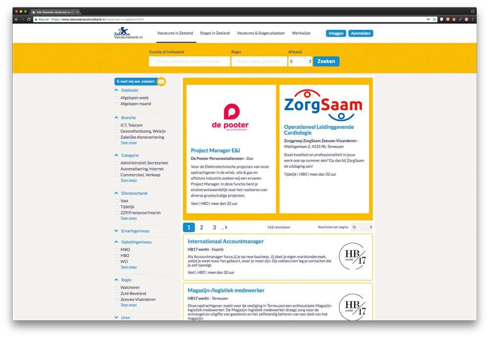 Vacatures in Zeeland op ZeeuwseVacaturebank.nl