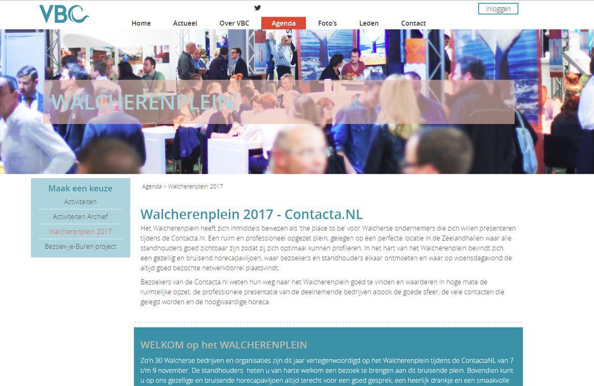 Activiteiten op de nieuwe responsive website van de VBC