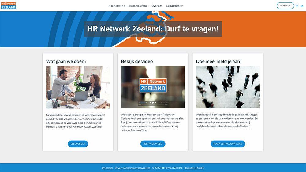 website HR Netwerk Zeeland