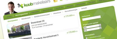 Kuub Makelaars - Nieuwe website met import van woningaanbod