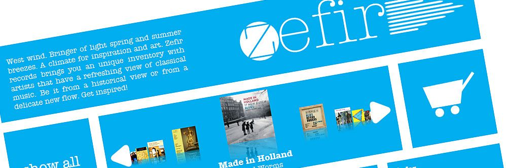 Zefir Records - Nieuwe website voor Zefir Records