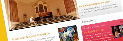 Zeeuwse Concertzaal - Nieuwe vormgeving + functionaliteit voor website