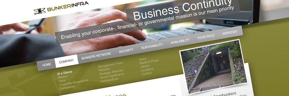 Bunkerinfra - Professionele website met zakelijke uitstraling