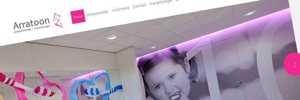 Tandartspraktijk Arratoon - Grafisch visueel sterke website