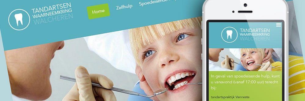 Tandartsen Waarneemkring - Responsive website met uitgebreid back-office