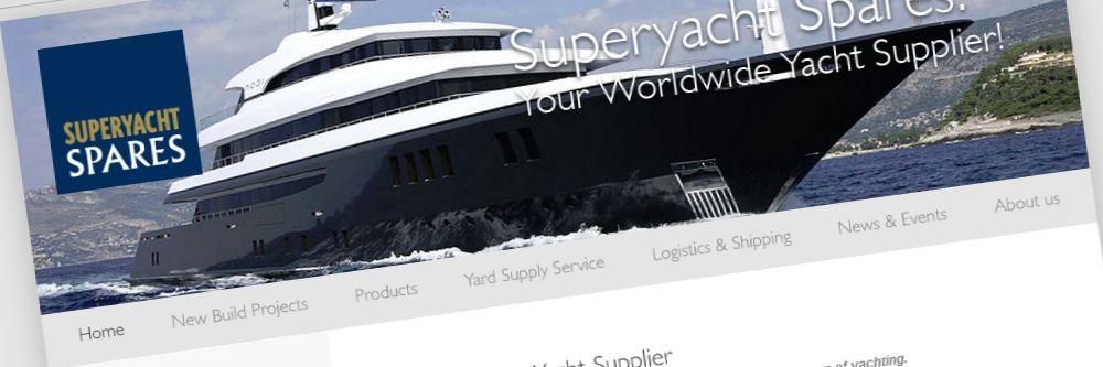 SuperYacht Spares - Grafische restyle van de website
