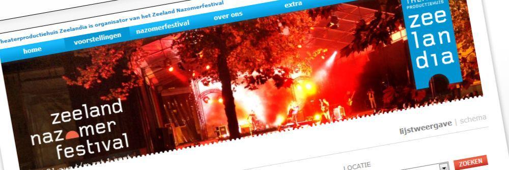 Theaterproductiehuis Zeelandia - Vernieuwde website voor Zeeland Nazomerfestival