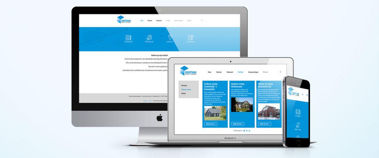 Weertman Bouwmanagement - Nieuwe responsive website