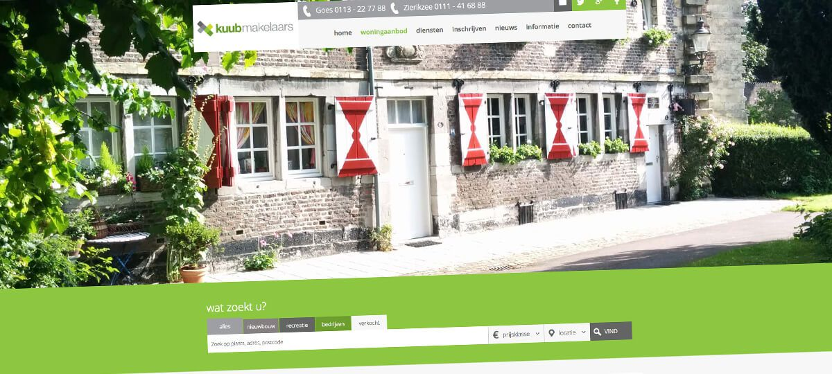 Kuub Makelaars - responsive website