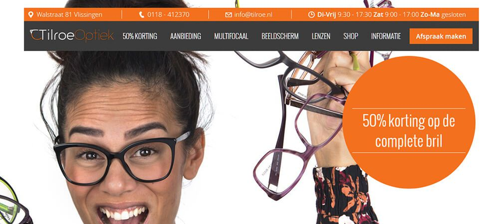 Tilroe Optiek - responsive website