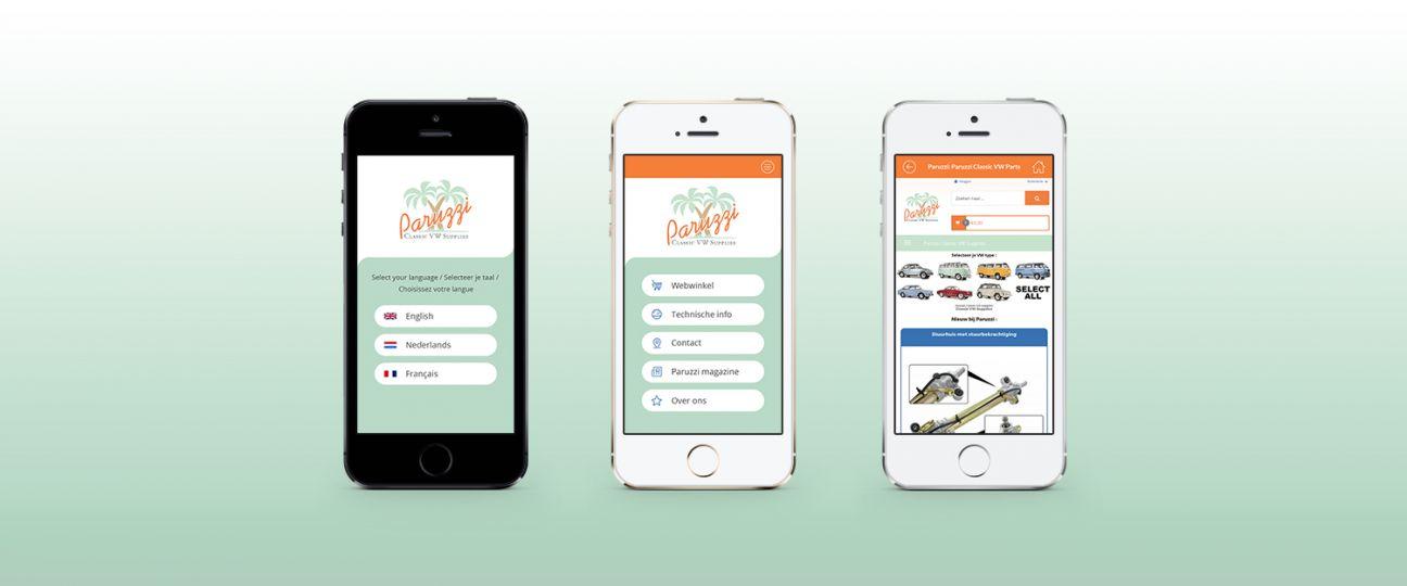 Paruzzi - webshop app