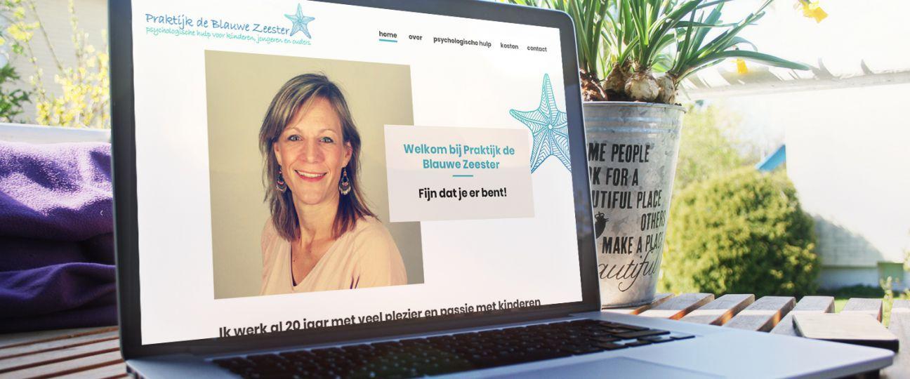 Praktijk de Blauwe Zeester - website startende onderneming